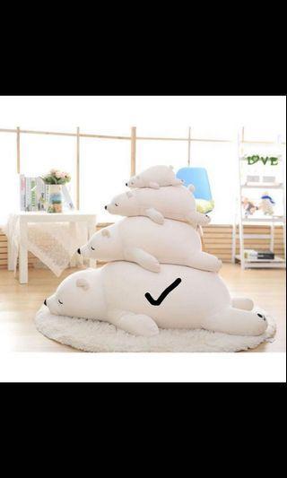北極熊娃娃抱枕
