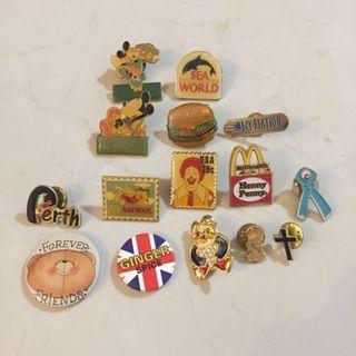 Vintage collar pins badge brooch sea world McDonald's Mickey Mouse #endgameyourexcess