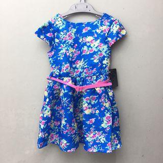 <new> blue floral dress