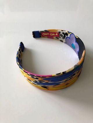 Beautiful Multicoloured Silk Hairband