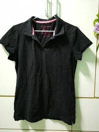 🚚 Giordano 黑色polo 衫
