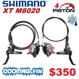 Shimano XT M8020 4-Piston COOLING FINS Hydraulic Brake--------------------(MT2 MT4 MT5 M5e MT6 MT7 MT8 MT 1893 MT Trail SPORT CARBON M9120 M8020 M8000 M7000 M315 Bike Master BikeMaster )