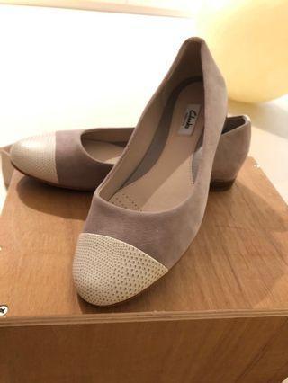 Women Clarks Shoes UK 6 Beige