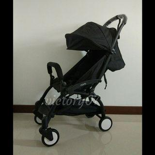BN Compact Lightweight Baby Stroller, Full Black (FREE DELIVERY)