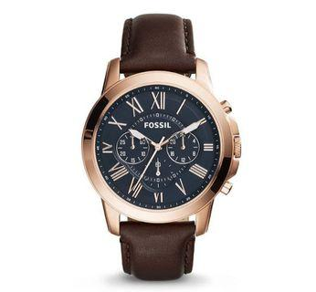 Fossil Men's Grant Chronograph Brown Leather Casual Watch