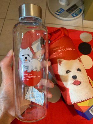 🚚 狗狗🐶水瓶 玻璃 附提袋