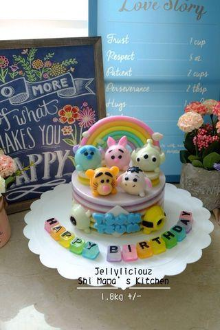"""Tsum-tsum Jelly Cake 6"""""""