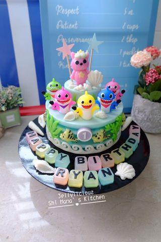 Baby Shark Birthday Jelly Cake