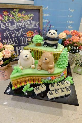 We Bare Bear Birthday Jelly Cake