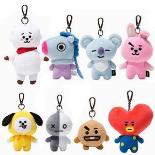 (Korea Purchase)BTS BT21 bag charm, face doll keyring