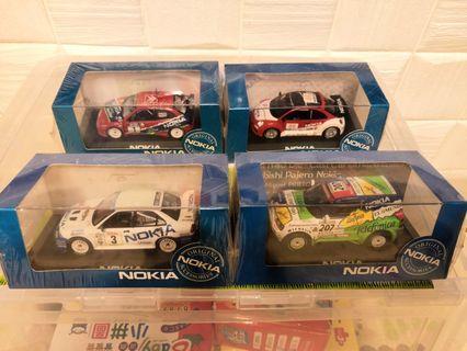 絕版Nokia模型車一套四部