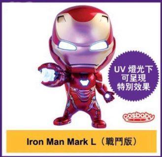 全新 未開封 AVERAGES END GAME Cosbaby iron man 戰鬥版 連限定海報 紙袋