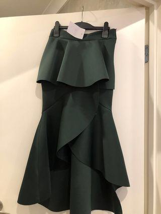 Green Skirt sexy fit
