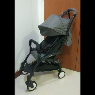 BN Cabin Size Travel Baby Stroller in Grey (FREE DELIVERY)