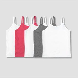 美國 Hanes 女孩童裝 純棉吊帶衫 底衫內衣 Tag-less Camis 100% Cotton (6-8)