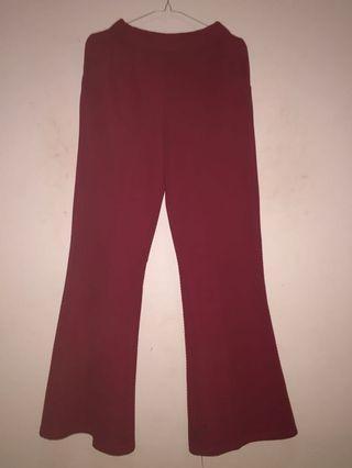Celana Kulot Merah (Cutbray)