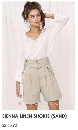 🚚 Sienna linen shorts/bermudas (sand)