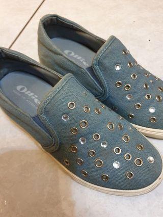 🚚 帆布休閒鞋 藍色休閒鞋