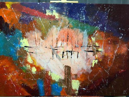 """Abstract Acrylic Painting """"Ode to Continuum"""""""