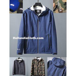 日本專業級GTX防水透氣麻布藍黑灰色薄款夜間反光字外套jacket風褸電單車行街遠足-hc083