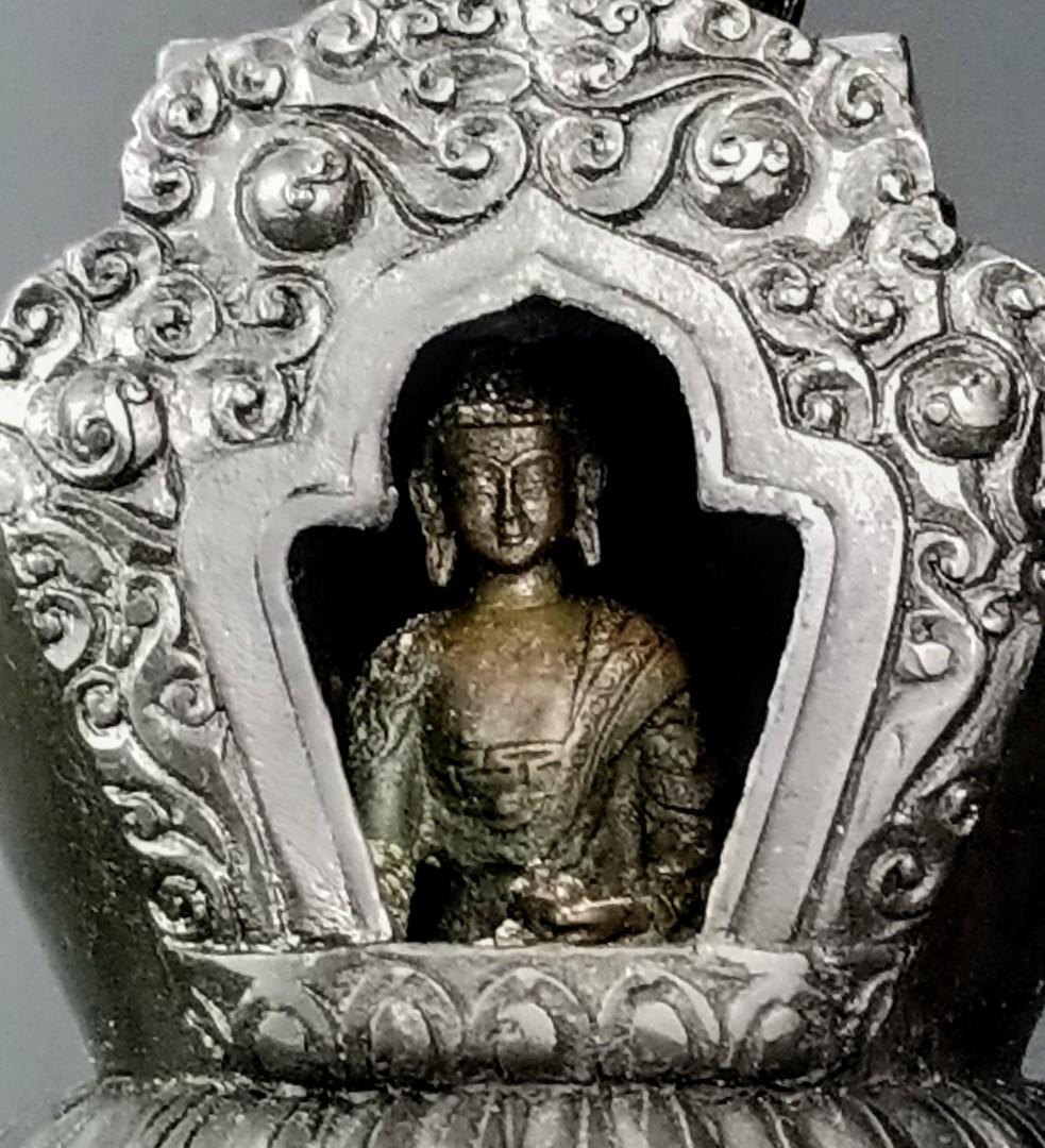 藏傳佛教紫銅供奉寶塔