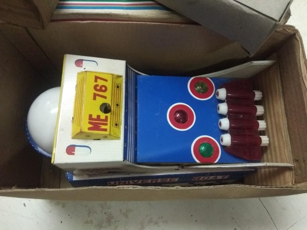 懷舊玩具收藏 70年代 宇宙飛船 鈇皮玩具