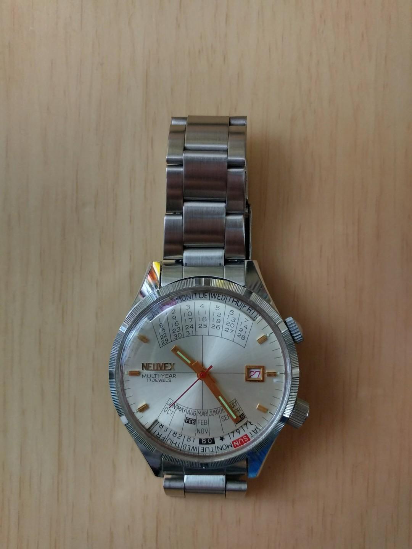 古董手錶 neuvex multi-year 17 jewels