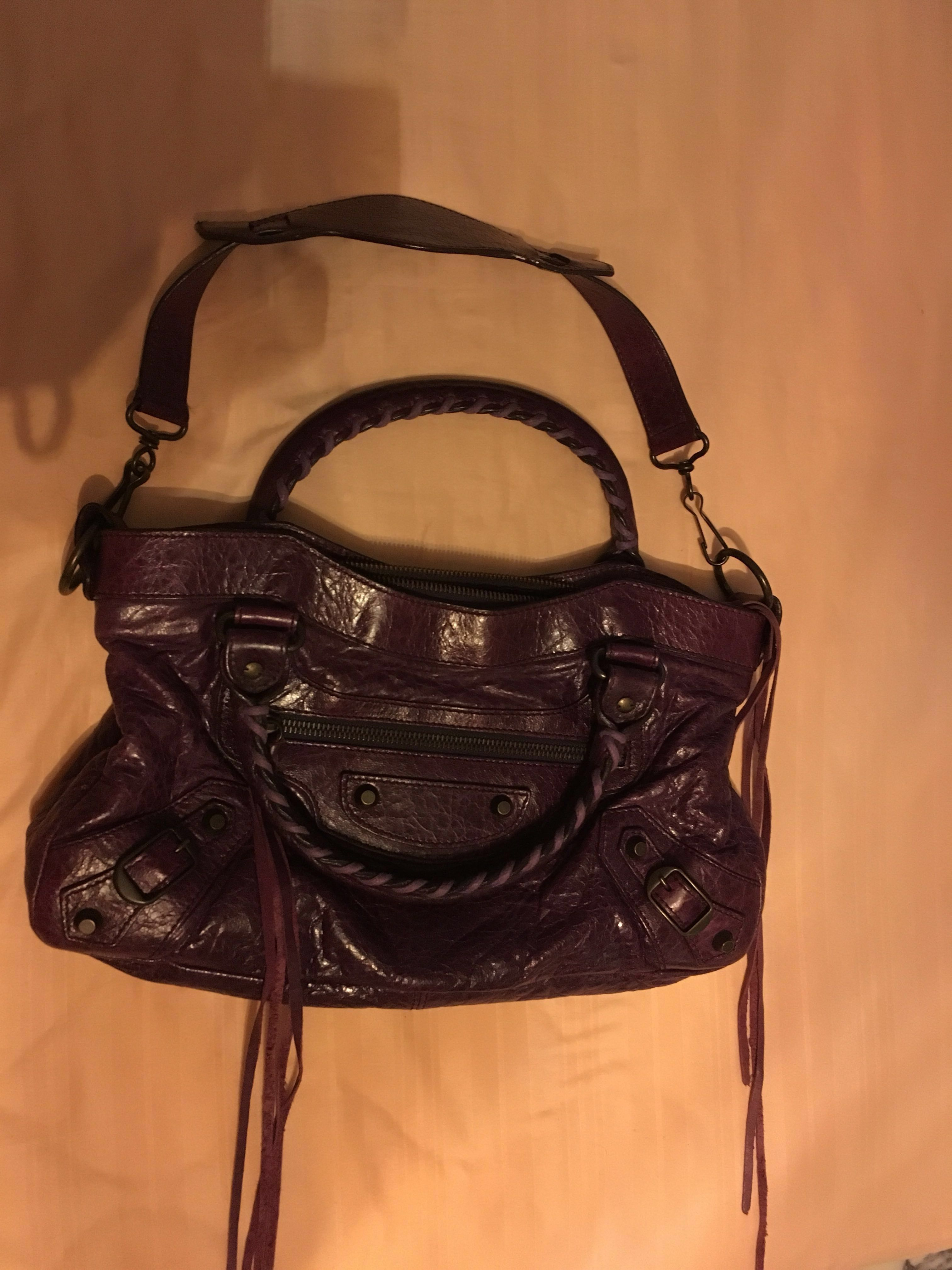 6046f6ace99 Authentic Balenciaga Classic First in Raisin, Luxury, Bags & Wallets ...