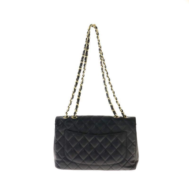 Authentic Pre-loved Chanel Jumbo Caviar Leather Single Flap Bag