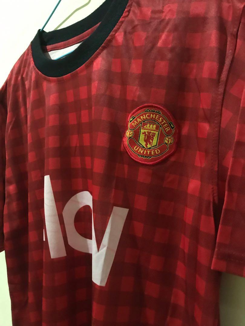 Baju Bola futsal Manchester United Merah KW