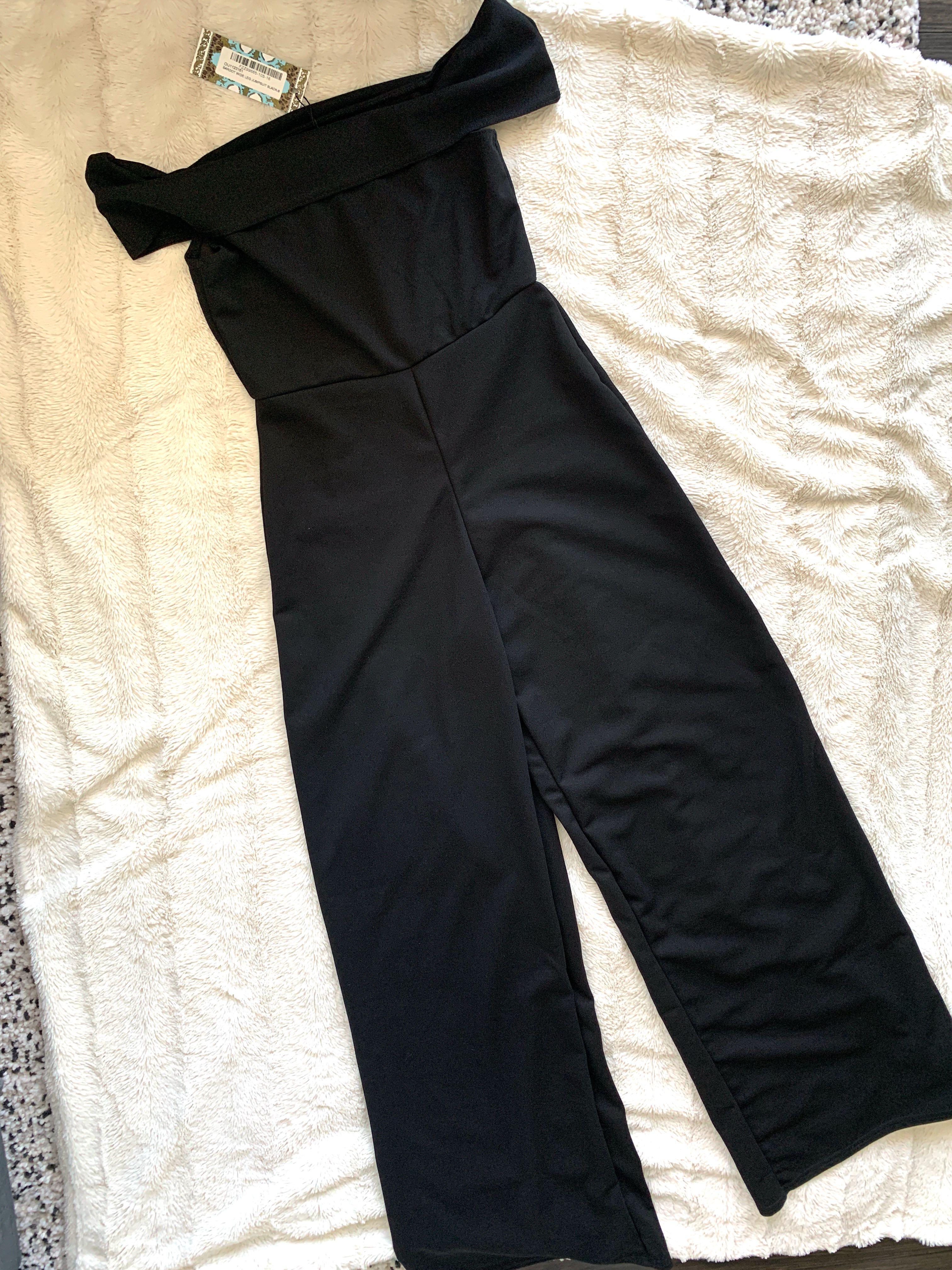 Bardot Style Jumpsuit