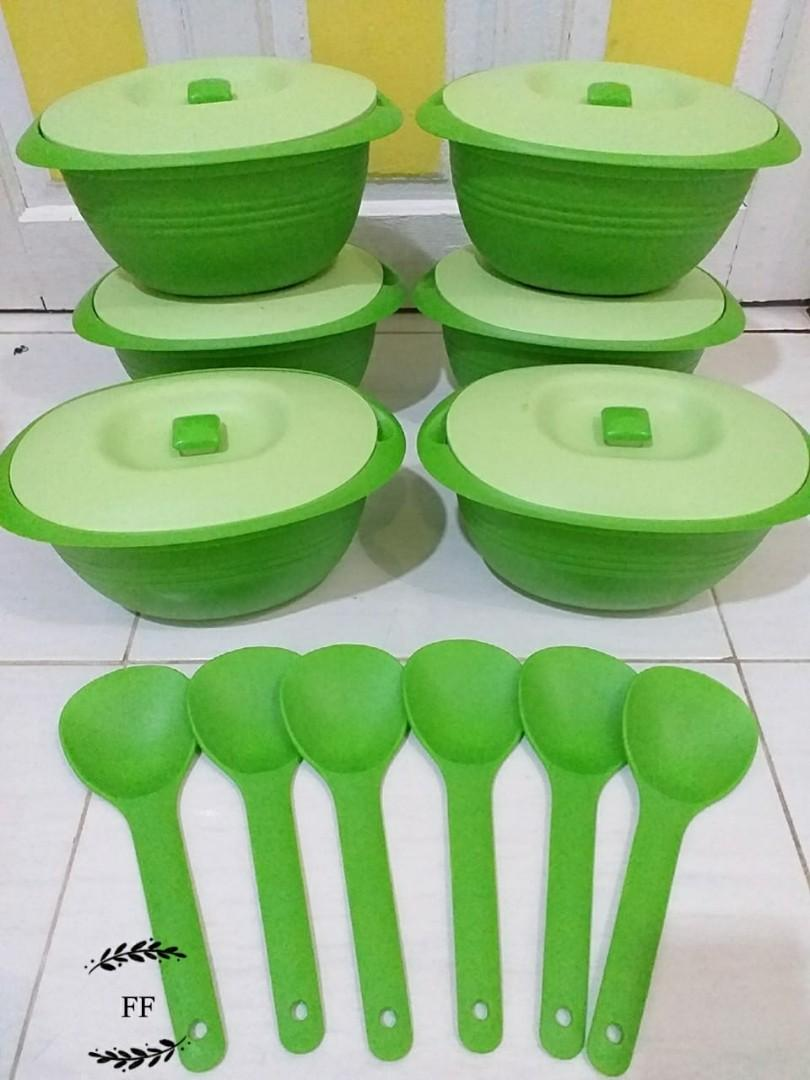 Basi oval 6pc + sendok + tutup