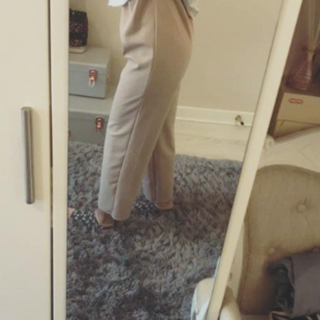 beige pants/executive trousers