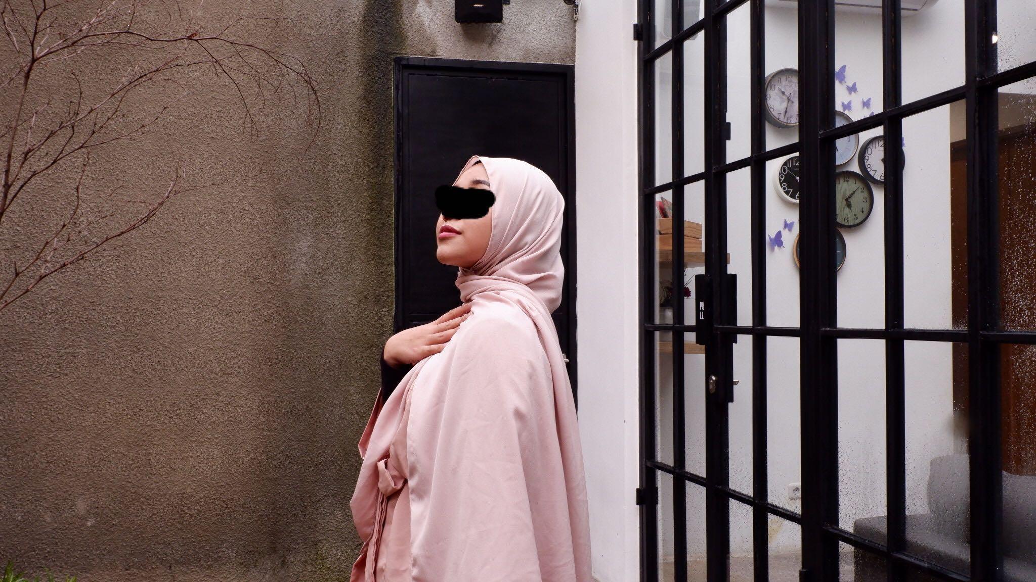 Blush pink pashmina