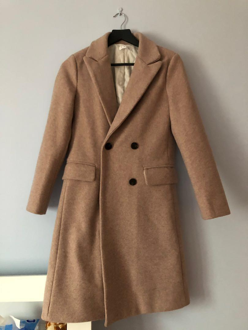 BRAND NEW Dusty pink wool coat