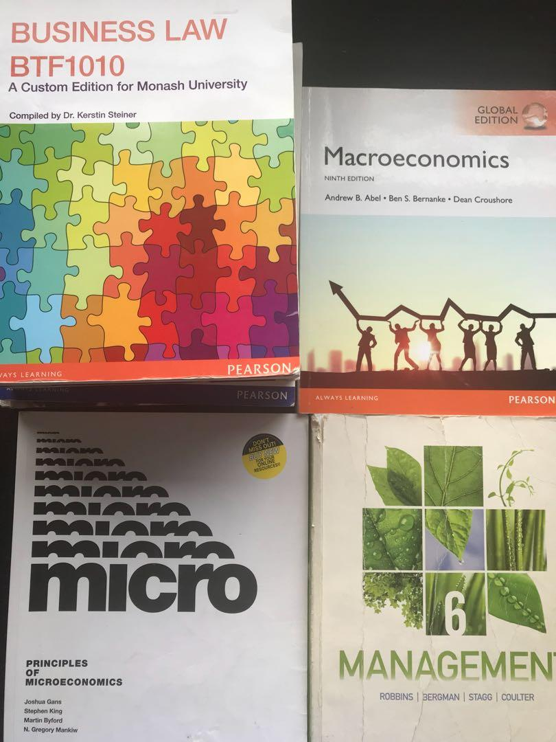 Business / economics / management / marketing textbook