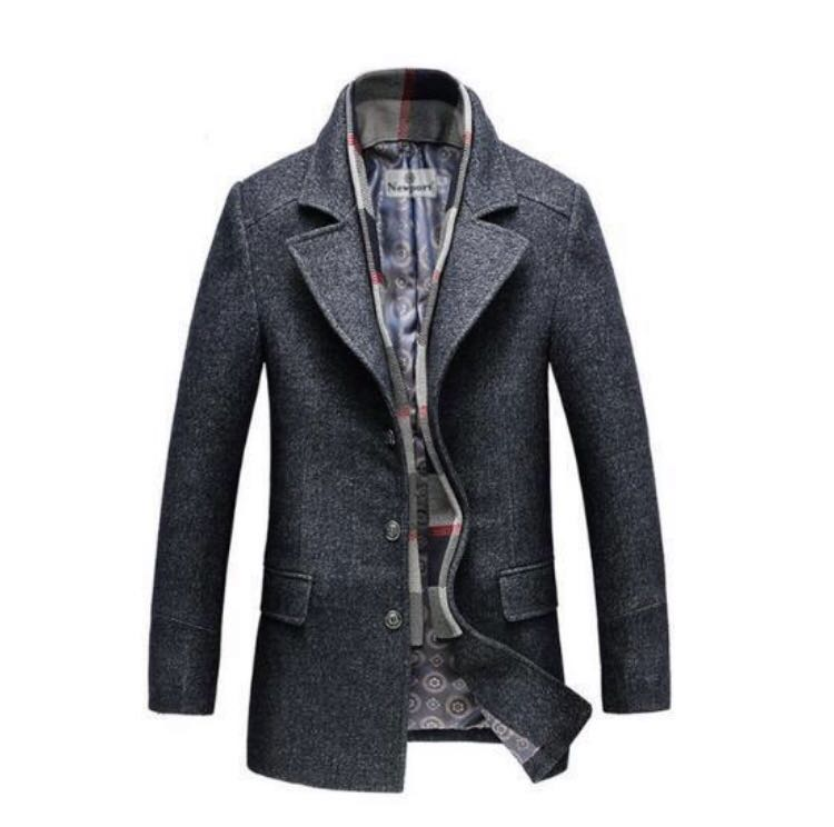 2019 discount sale 2019 original new release Calico Wool Trench Coat, Men's Fashion, Clothes, Outerwear ...