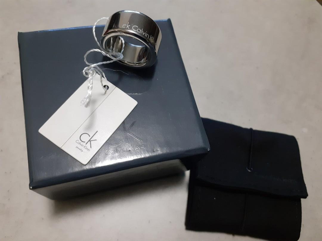 Calvin Klein Ck Silver Ring Small BRAND NEW