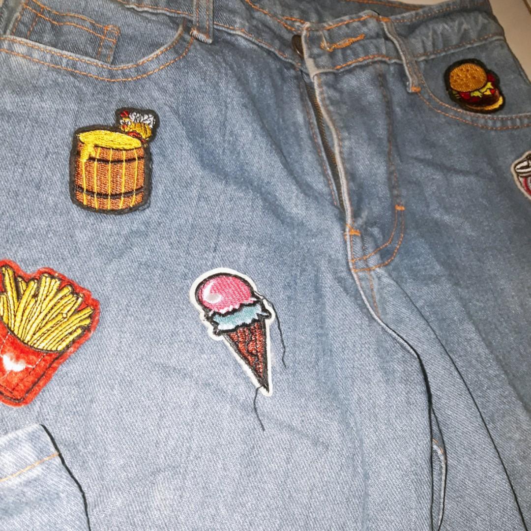 Celana jeans boyfriend patch #prelovedwithlove
