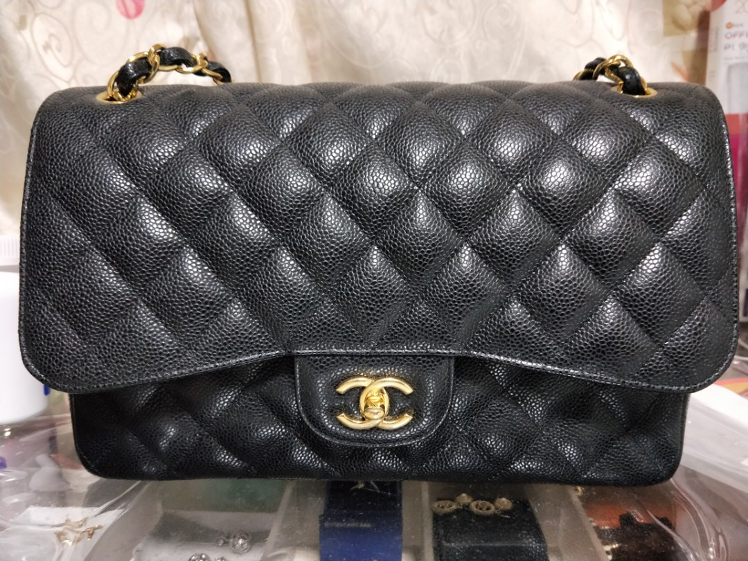 67834d270f97 Chanel Classic Jumbo Double Flap Bag Cavier, Luxury, Bags & Wallets ...