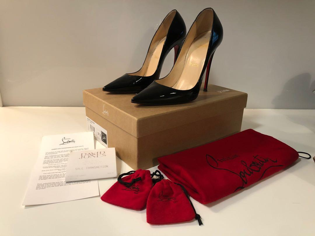 Christian Louboutin black patent 120mm so Kate heels