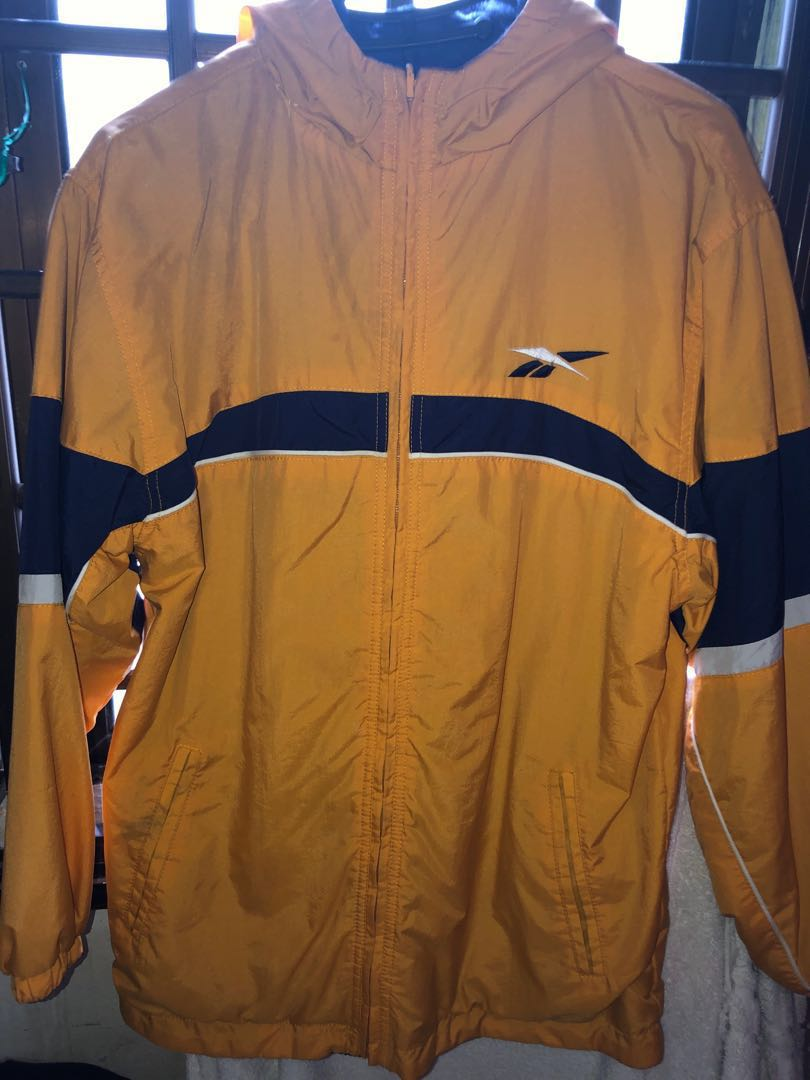 5551623a09692 Reebok reversible hoodie jacket vintage L size, Men's Fashion ...