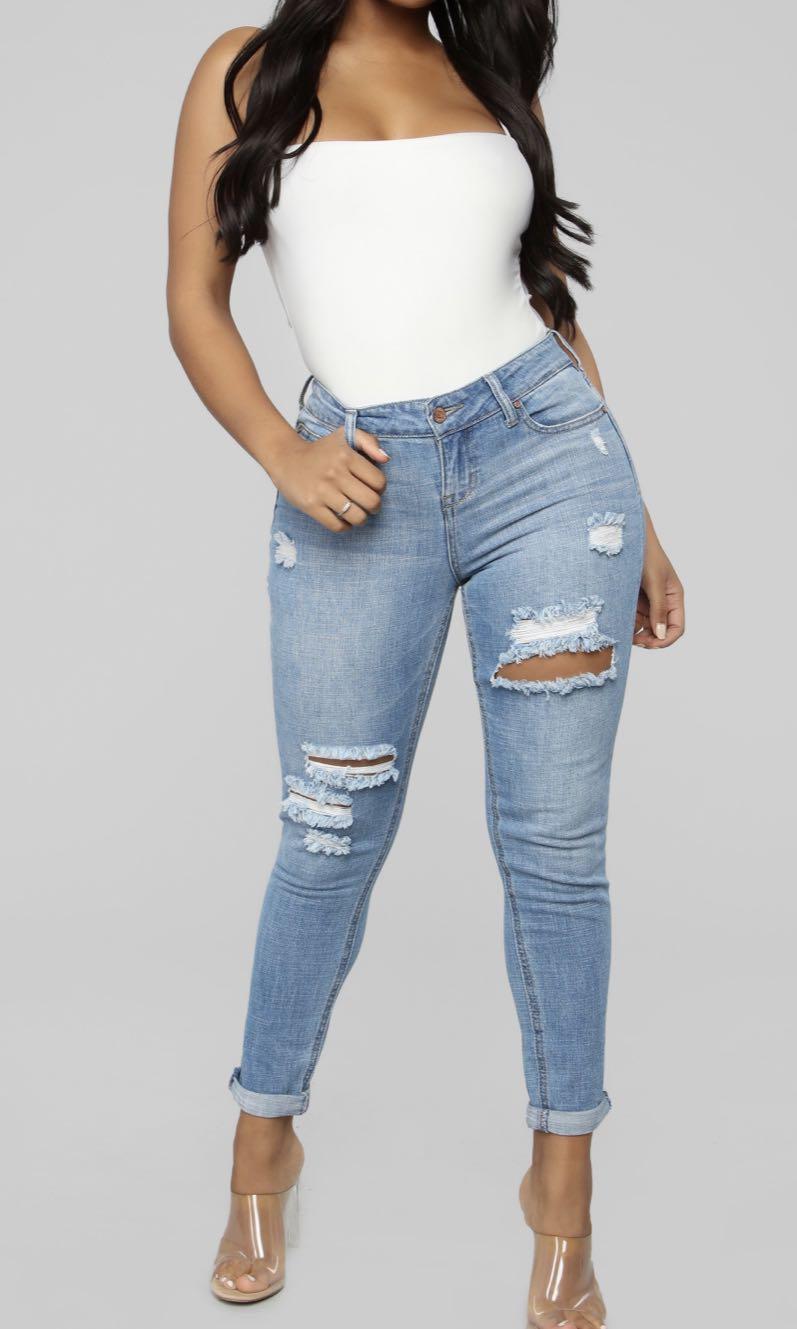 Fashion Nova - I Cant Take It Anymore Girlfriend Jeans