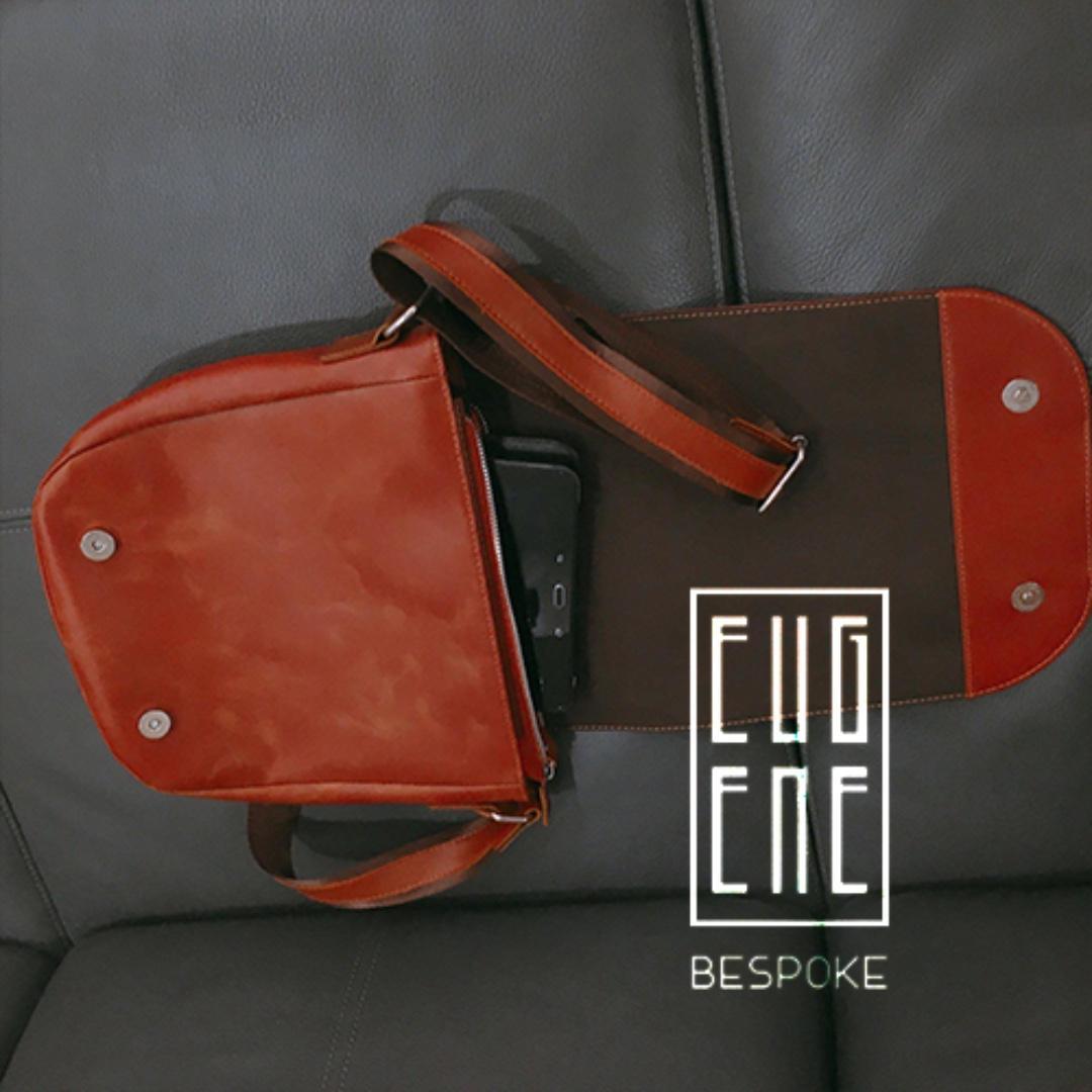 [Flash Sale - SALE OFF 50%] Handmade Leather Handbag for Men/ Women - Eugene's High Quality Handbag - Best Gift for Him/ Her