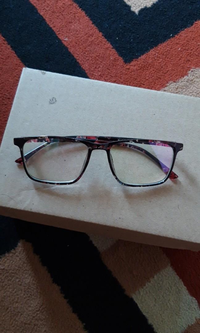 Frame kacamata motif bunga