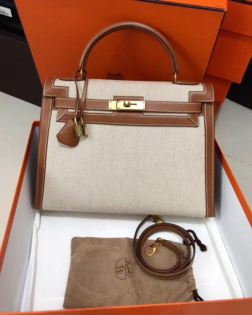 Good Condt K32 Gold Epsom Etoile Naturale GHW Stamp B comes with db,box,flanel,orange db,set tools and ori strap