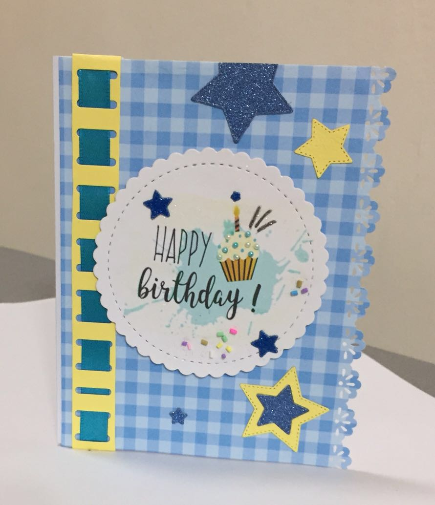 Handmade Birthday Card Design Craft On Carousell