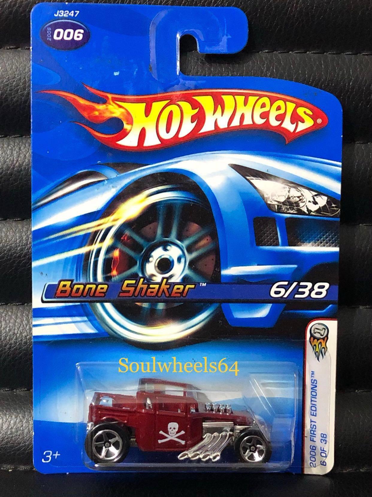 e4c61f11ac Hot Wheels Bone Shaker Boneshaker 1st Edition (Red  Silver Chrome ...