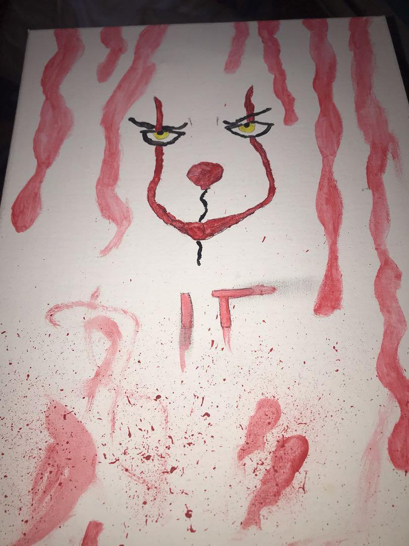 It movie clown painting