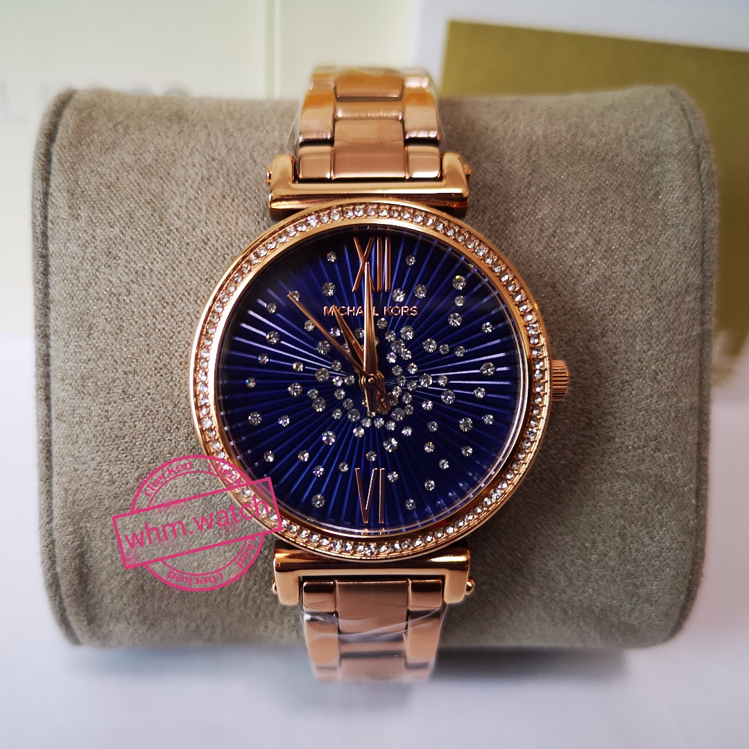 9b5a1a10c Michael Kors Women's Sofie Two-Hand Rose Gold-Tone Stainless Steel ...